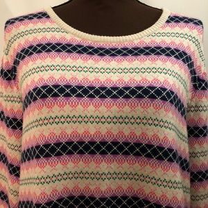 TALBOTS Fair Isle Striped Sweater